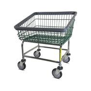 Large Capacity Front Load Laundry Cart with Green Basket