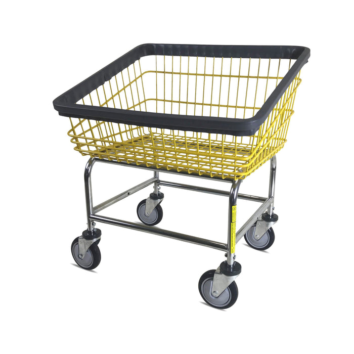 Front Load Laundry Cart with Yellow Basket