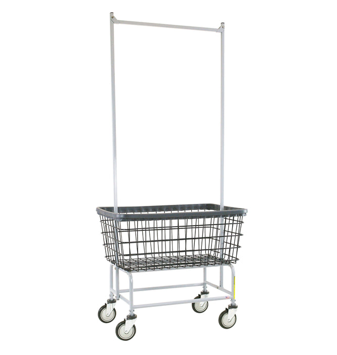 Dura-Seven™ Large Capacity Laundry Cart w/ Double Pole Rack