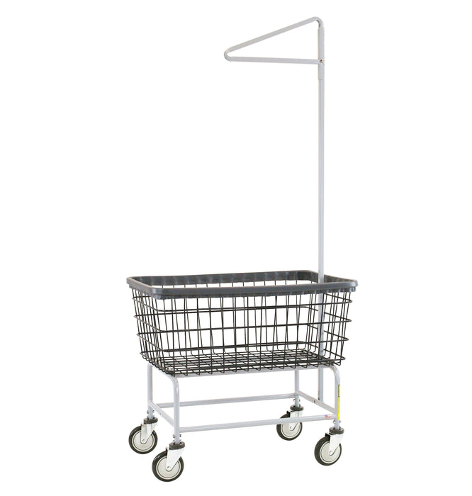 Dura-Seven™ Large Capacity Laundry Cart w/ Single Pole Rack