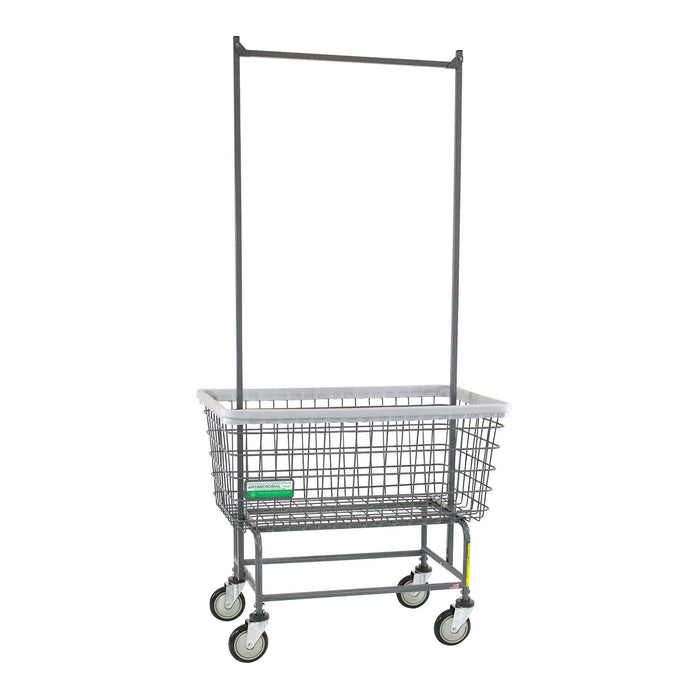 Antimicrobial Mega Capacity Laundry Cart (Big Dog) w/ Double Pole Rack