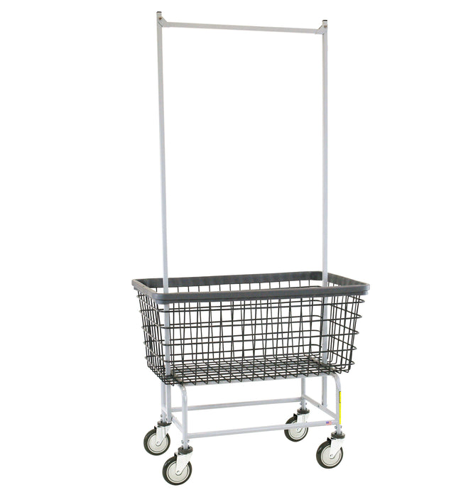 Dura-Seven™ Mega Capacity Laundry Cart (Big Dog) w/ Double Pole Rack