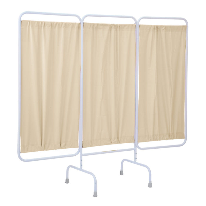 Stationary Antimicrobial Three Panel Privacy Screen