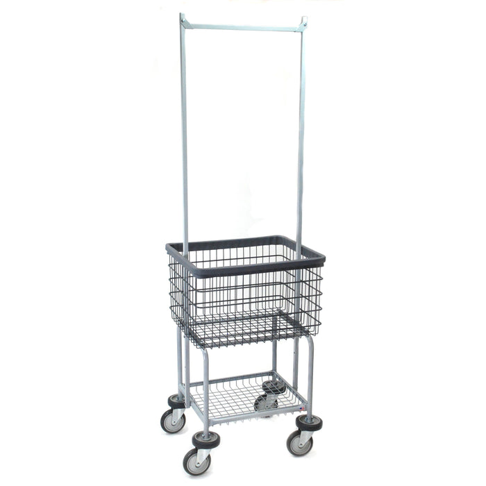 Elevated Laundry Cart w/ Double Pole Rack in Dura-Seven™ Anti-Rust Coating