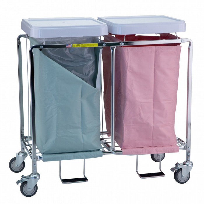 Double Deluxe Easy Access Hamper Stand