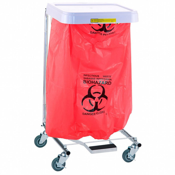 Biohazard Waste Disposable Poly-Liner Bag, Red-Blk Print (200/Case)