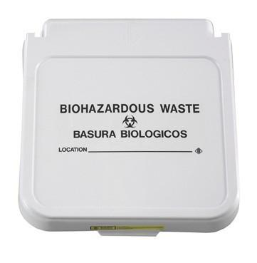 Hamper Label, Biohazardous Waste - Black Lettering, pack of 5