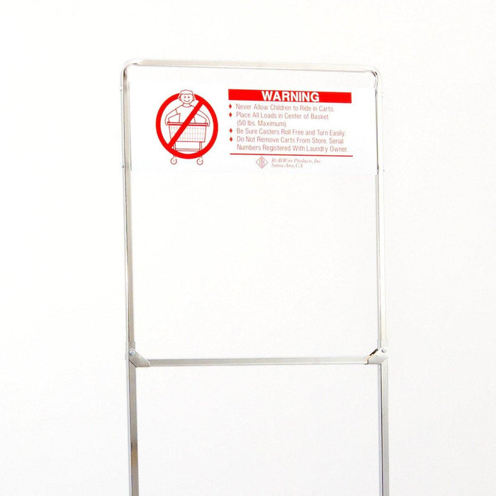 One Piece Rack Extender with Sign for 58 Rack