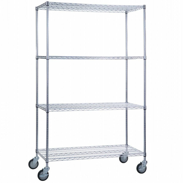 Linen Cart 18 x 36 x 68 With Wire Shelves - SHORT