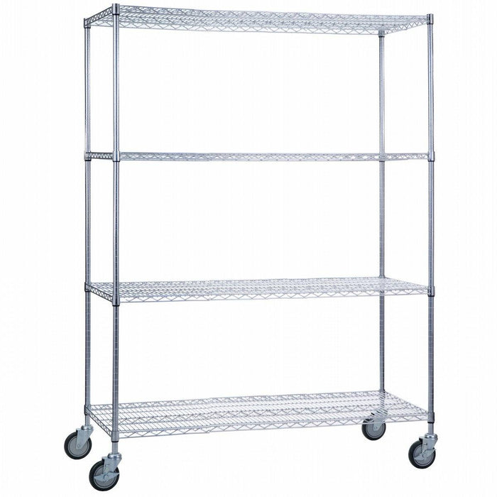 Linen Cart 18 x 60 x 72 With Wire Shelves