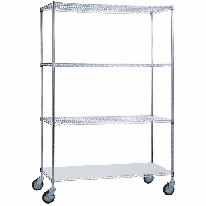 Linen Cart 24 x 48 x 68 with Solid Bottom - SHORT