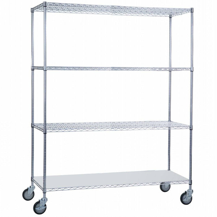 Linen Cart 24 x 60 x 68 with Solid Bottom - SHORT