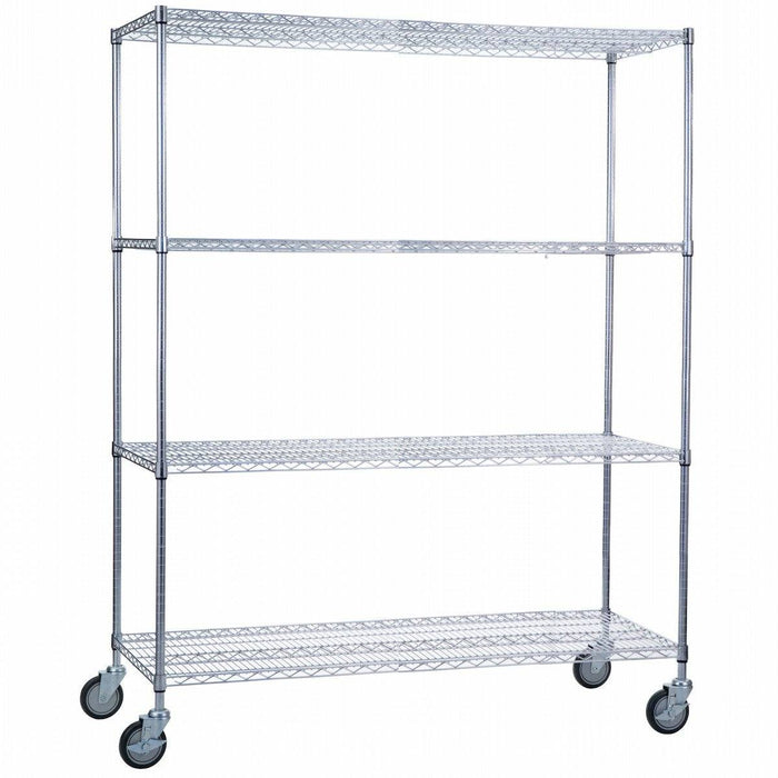 Linen Cart 24 x 60 x 68 With Wire Shelves - SHORT