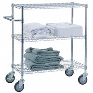"Triple Shelf Utility Cart 24"" x 48"""
