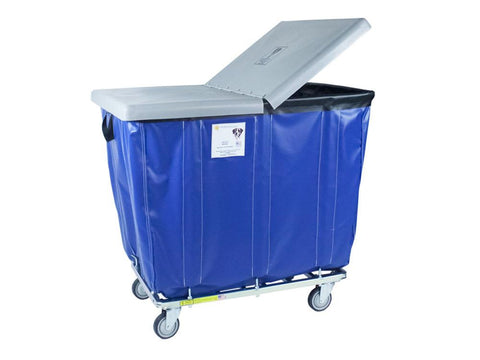 Hinged Poly Cover to fit 8 Bushel Vinyl Basket Trucks and Poly Laundry Trucks