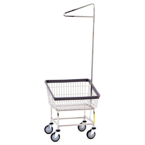 Front Load Laundry Cart w/ Single Pole Rack