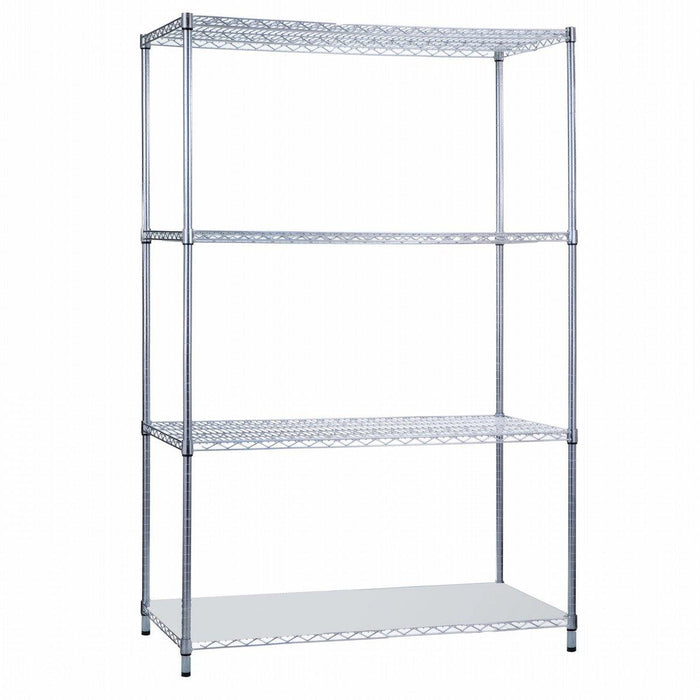 Shelving Unit 18 x 36 x 72, with Solid Bottom Shelf