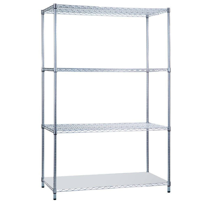 Shelving Unit 24 x 36 x 72, with Solid Bottom Shelf