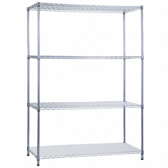 Shelving Unit 24 x 48 x 72, with Solid Bottom Shelf