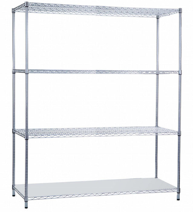 Shelving Unit 18 x 60 x 72, with Solid Bottom Shelf