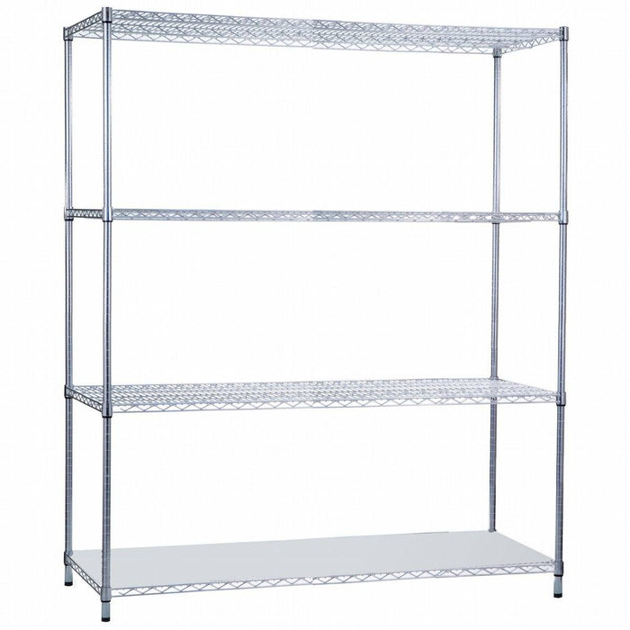Shelving Unit 24 x 60 x 72, with Solid Bottom Shelf