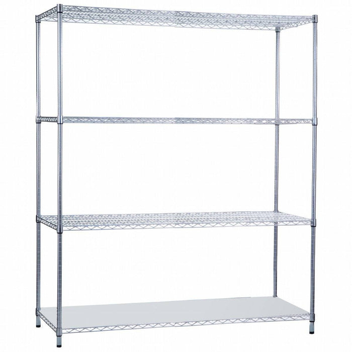Shelving Unit 24 x 60 x 62, with Solid Bottom Shelf