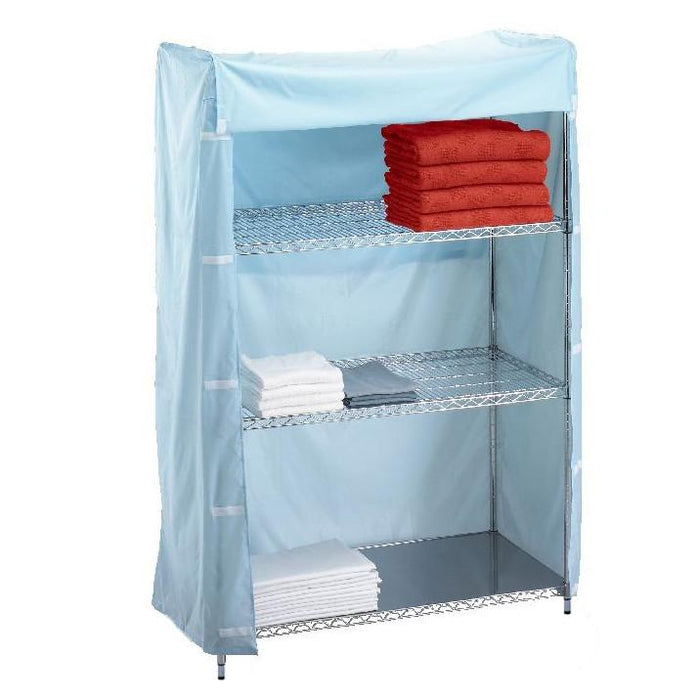 Short Wire Shelving Unit Nylon Cover 18x48x62