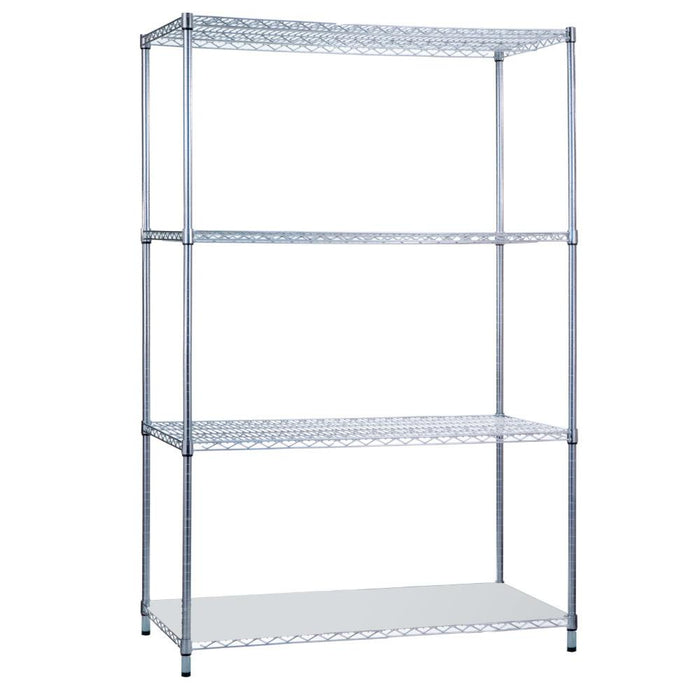 Shelving Unit 18 x 36 x 62 with Solid Bottom Shelf