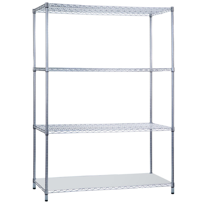Shelving Unit 18 x 48 x 62 with Solid Bottom Shelf