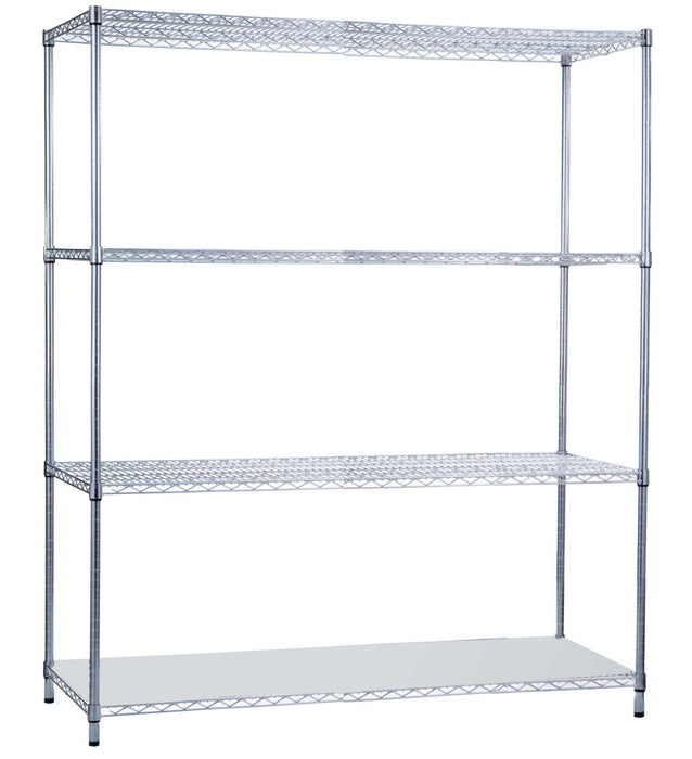 Shelving Unit 18 x 60 x 62, with Solid Bottom Shelf