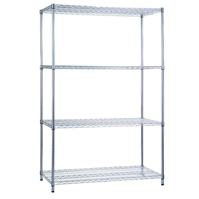Shelving Unit 24 x 36 x 72, Wire Shelves (w/o Casters)