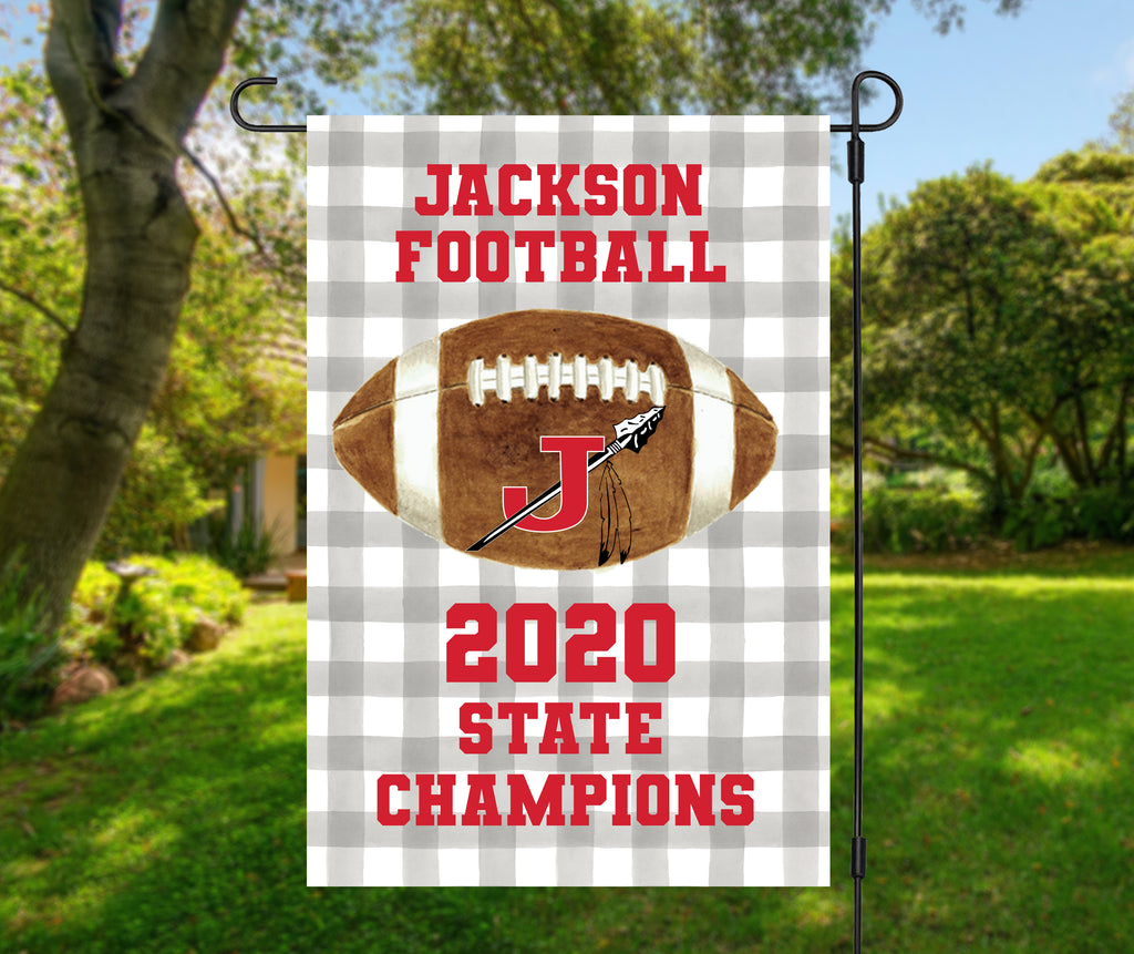 Jackson Indians 2020 Football Champions Garden Flag