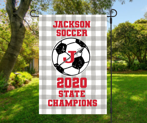 Jackson Indians 2020 Soccer Champions Garden Flag