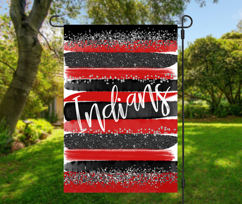 Indians Brush Strokes Garden Flag