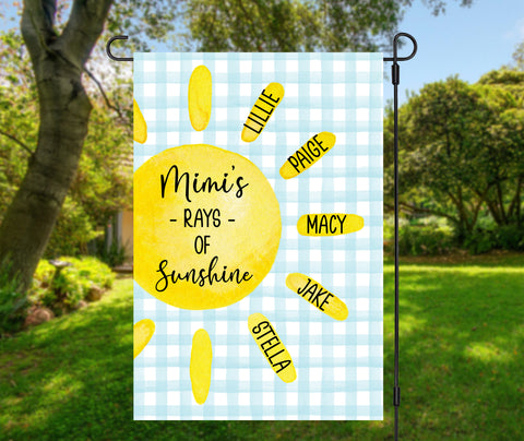Grandma's Rays of Sunshine Garden Flag