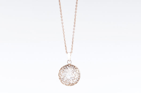 Rose Gold Necklace Moyen