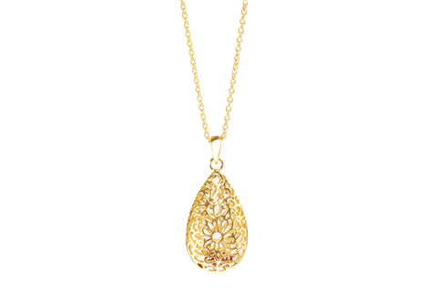 Teardrop gold necklace