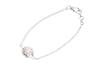 Silver Rose Quartz bracelet - EsmeLoves