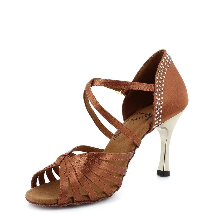 salsa tan rhinestone shoes heels