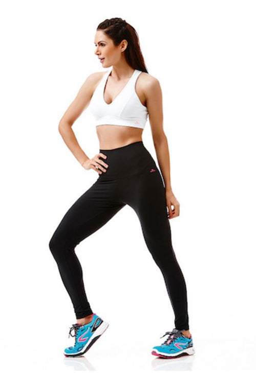 High-High Waisted Black Yoga Dance Leggings