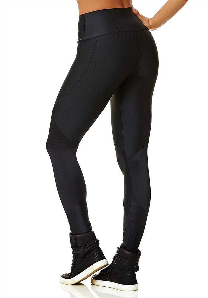 Black Zipper Leggings | Fashionable Fitness Wear | Palisa Dance Boutique