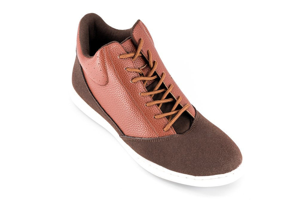 dance shoes men hightop brown leather