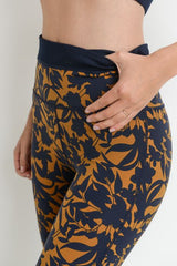 Highwaist Damask Print Band Leggings