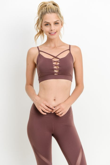 Double Criss-Cross Front Sports Bra