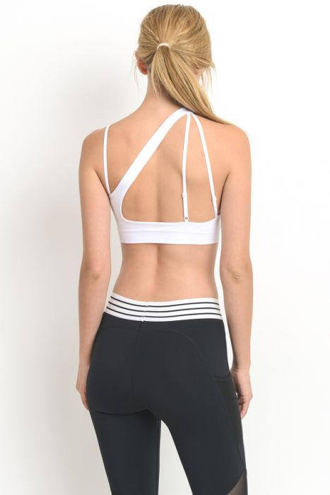 Amazon Seamless Strap Sports Bra White