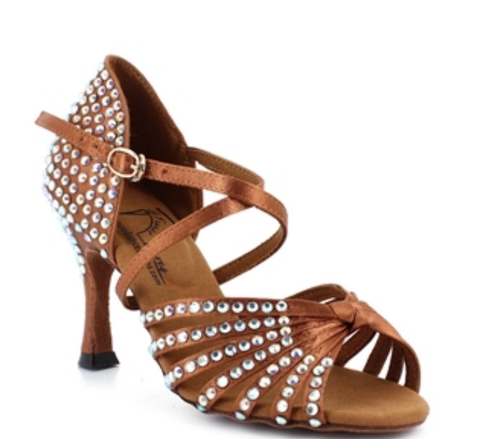 Elite Rhinestone Salsa Dance Shoes