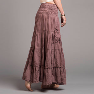 Stretch, dance, breathe and play! in this soft cotton gauze skirt with 2 pockets. Handmade with strong fabric and stitching and dyes that won't run.