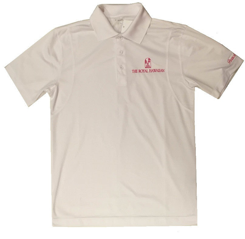 The Royal Hawaiian Waikiki Beachboy White Polo