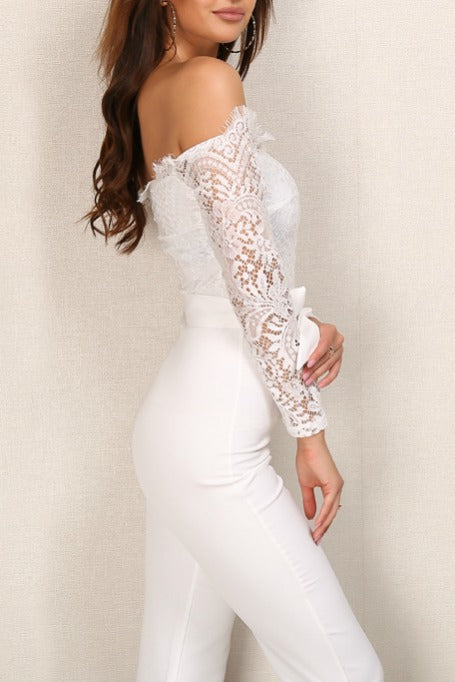 d0b898a44b9b Rayna - Off Shoulders Lace Jumpsuit - White – Gigi The Label