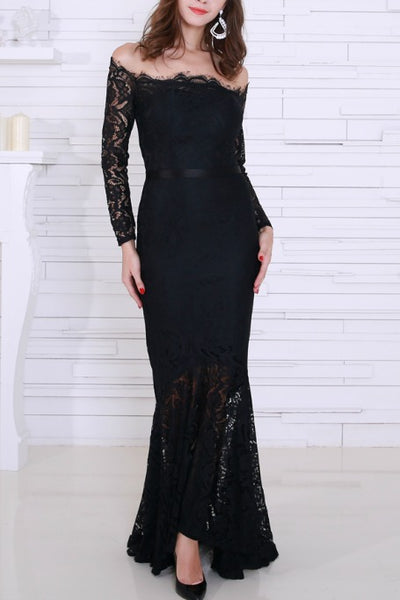 9f44f7850d32 Posie - Off Shoulders Lace Gown - Black. Free Gift · Gigi The Label